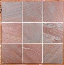 Molten Copper Quartzite Tile, India Red Quartzite