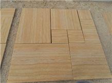 Teak Wood Sandstone Pattern
