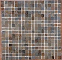 Vijaya Gold Slate Mosaic