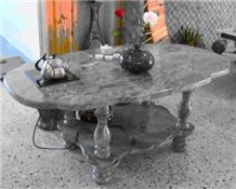 Table with Huaan Jade, Green Granite Table