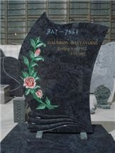 Bahama Blue Monuments/Tombstones with Colored Flowers