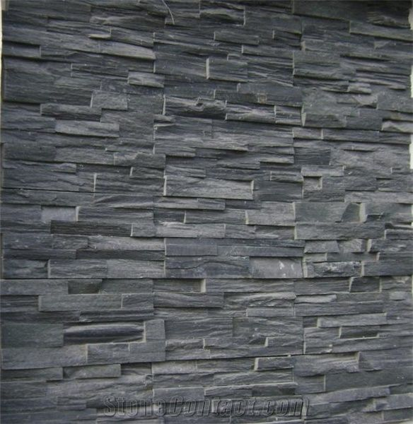 Natural Black Slate Wall Cladding From China