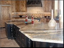Golden River Granite Kitchen Top,Brazil Yellow Granite