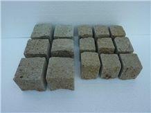 Cubic Stone in Trachite- Peperino Grigio Trachyte Cobbles