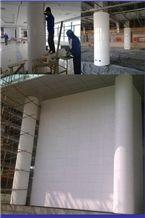 White Marmoglass Column