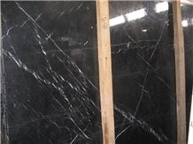 Nero Marquina, Chinese Marble with Vein Black and White Nero Oriental Tiles Slabs, Walll Cladding Panels, Stairs, Versailles Pattern, Skirting, Interior Decoration Building Best Price and High Quality