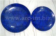 Lapis Lazuli Plates, Blue Marble