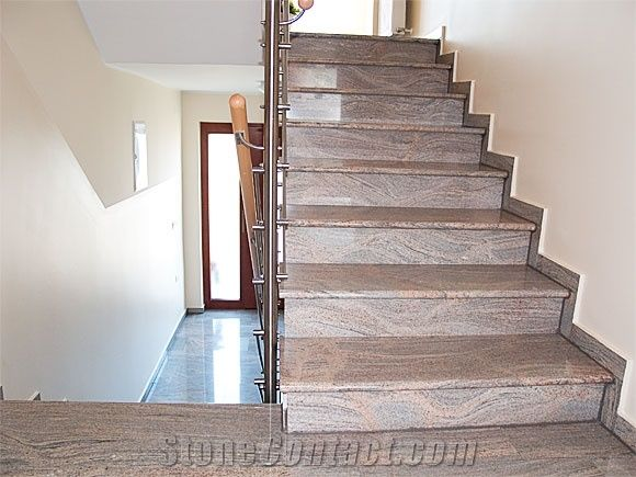 Tiger Skin India Granite Stairs And Steps From Slovenia Stonecontact