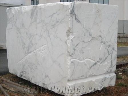 Carrara Statuario Marble Block Italy White Marble