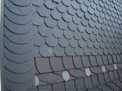 Thin Slate Roofing Grey Slate Roof Tiles From China