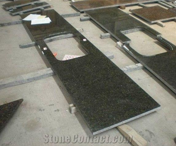 Ubatuba Granite Countertop, Verde Uba Tuba Green Granite