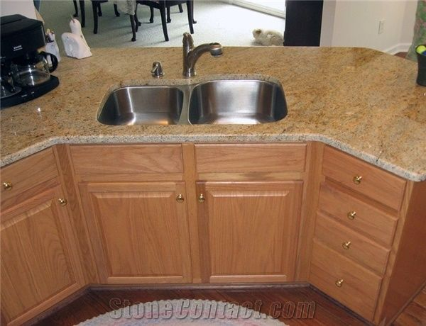 Kashmir Gold Granite Countertop India Yellow Granite From