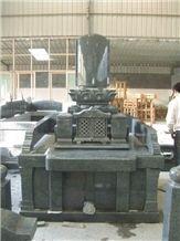Beida Green Granite Japanese Tombstone