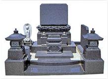 G603 or AG98 Grey Granite Japanese Tombstone