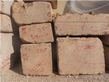Conglomerate Marble Block, Iran Red Marble