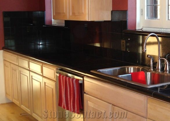 Black Galaxy Granite Countertop From United Kingdom 149473