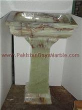 Green Onyx Pedestal Sinks,pakistan Green Onyx Sink