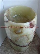 Pakistan Green Onyx Pedestals Sinks