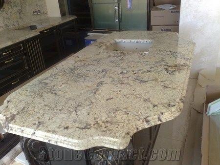 Bianco Romano Granite Countertop White