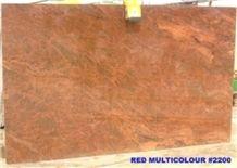 Multicolor Red Granite Slabs