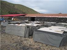 Mongolia Black Slabs(Factory), Mongolia Black Basalt Slabs
