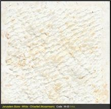 Jerusalem White Limestone Tile Chiselled,palestinian Light Cream Limestone