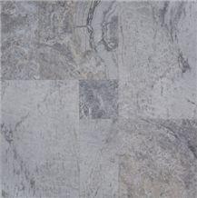 Silver High Honed Versailles Pattern Travertine