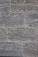 Silver Vein Cut 12x24 Travertine Tile, Turkey Grey Travertine