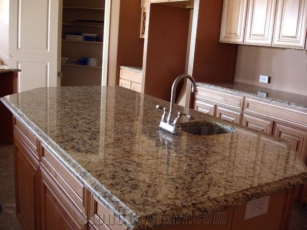 kitchen tile ideas photos santa cecilia light granite kitchen island top from china 20113