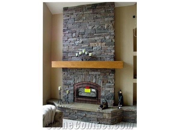Black Slate Fireplace From China Stonecontact Com