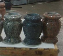 Imported Blue Pearl Granite Vase