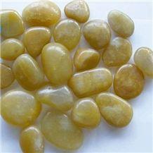 Yellow Pebble, Polished Pebble Stone