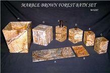 Rainforest Brown Marble Bath Set