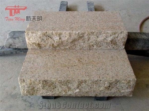 G682 Yellow Granite Outdoor Stair Step From China