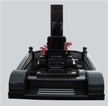 Absolute Black Granite Japanese Style Monument