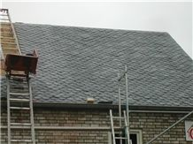 Black Slate Roof Tiles, Slate Roofing Tiles, Roof Covering and Coating, Stone Roofing