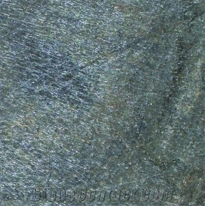 Galaxy Green Slate Tile Honed From United States