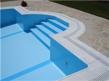 Kavala White Marble Overflow Set Pool Coping