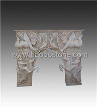Fireplace, Stone Fireplace HBFP020