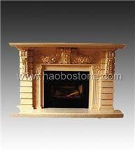 Fireplace, Stone Fireplace HBFP025