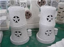 Granite Natural Stone Lanterns H-150-9