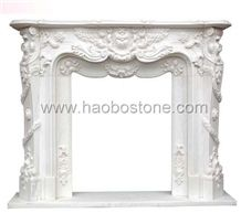 White Fireplace, Stone Fireplace HBFP028