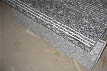 Spray White Granite,Wave White Granite Stair