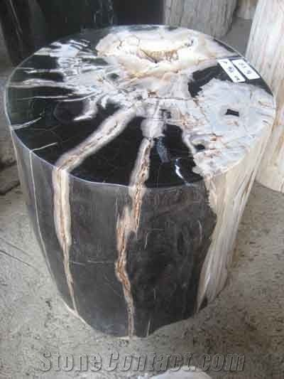 Awe Inspiring Petrified Wood Fuul Polished Stools From Indonesia Gmtry Best Dining Table And Chair Ideas Images Gmtryco