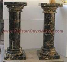 Black and Gold Marble Column