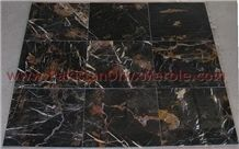 Black Gold Marble Tile