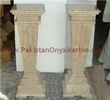 Gold Sahara Marble Pedestals