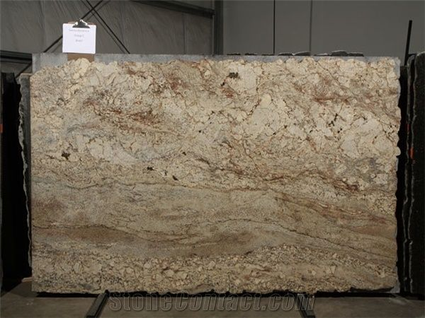 Sienna Bordeaux Granite Slab Brazil Beige