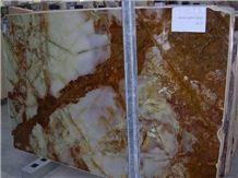 Onice Lumina Gold Slabs, Onyx Pina