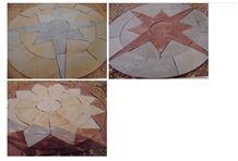 Mint Sandstone Circles Paver, Sandstone Star Layouts